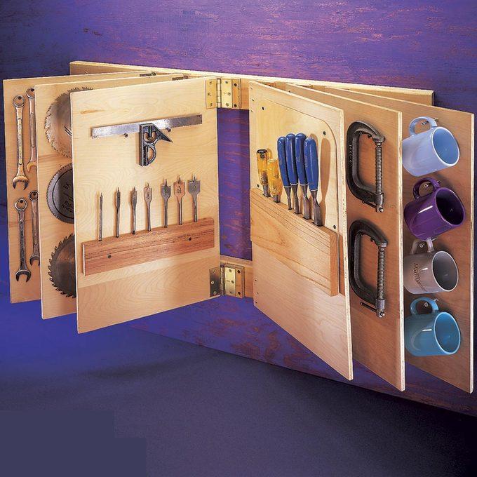 Flip-Through Storage Rack
