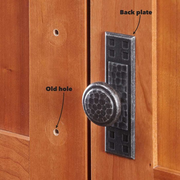 Hide Old Holes With Back Plates