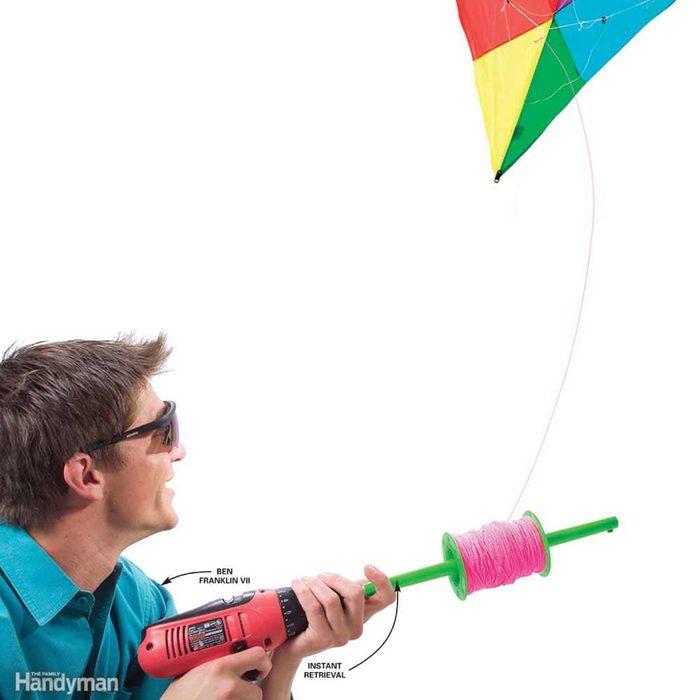Battery-Powered Kite Retriever