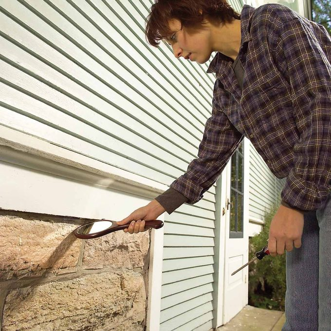 Check the Foundation or Siding Joint