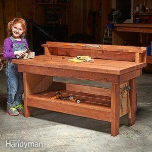Mini Classic DIY Workbench for Kids