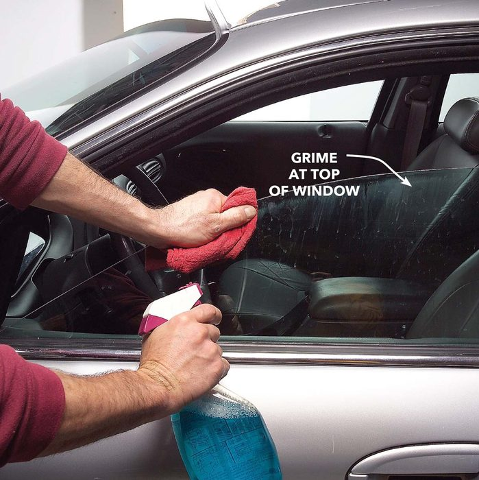 Best Way to Clean a Car: Wash the Windows, Including the Top Edges