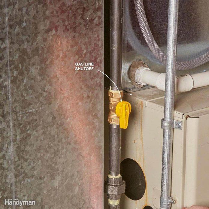 Gas line cutoff furnace