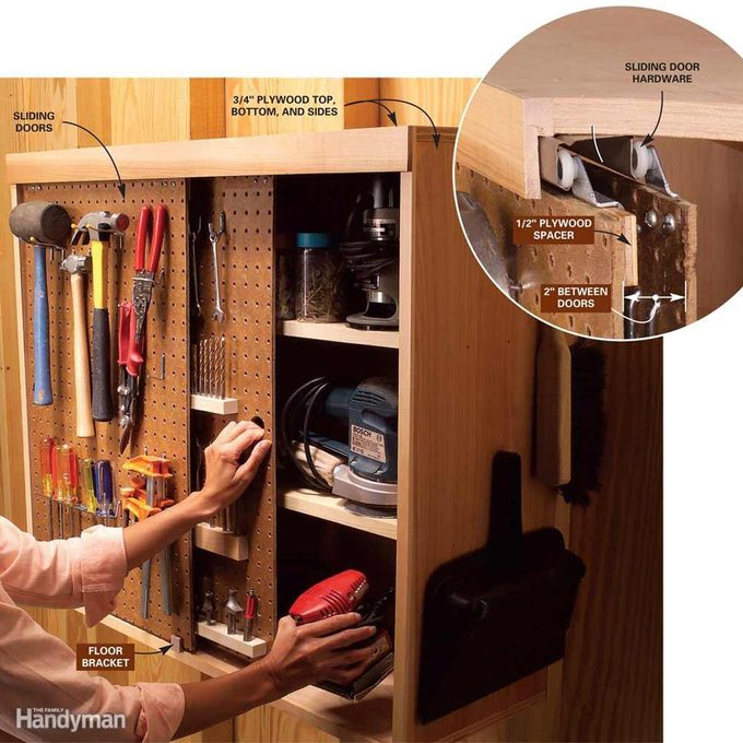 On-a-Roll Pegboard Doors