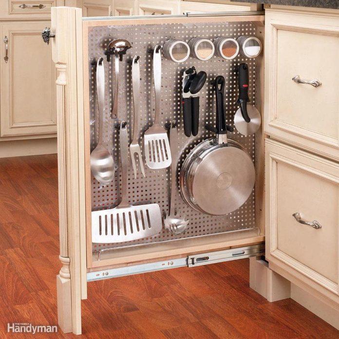 Household hints vertical kitchen cabinet storage