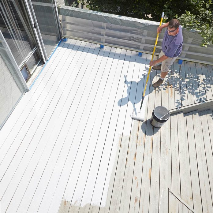 restore an old deck paint a deck white