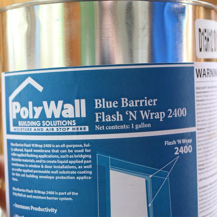 The label for a poly wall blue barrier | Construction Pro Tips