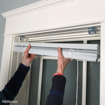 Install Window Blinds mounting brackets for blinds