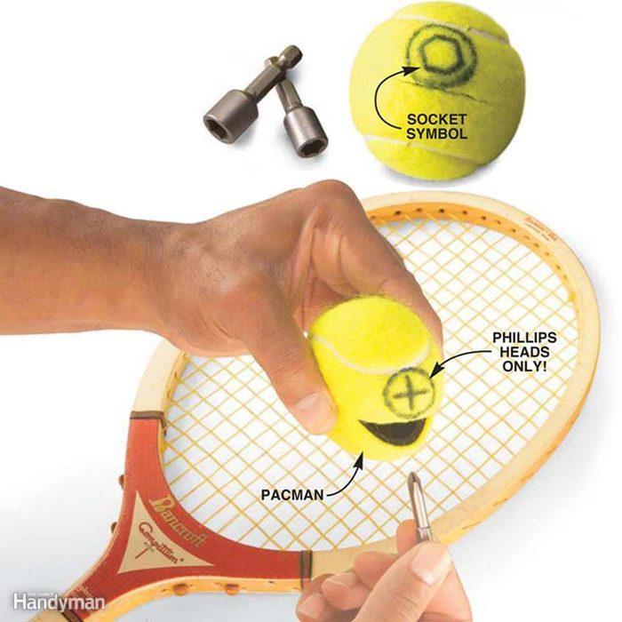 Tennis Ball Bit Keeper