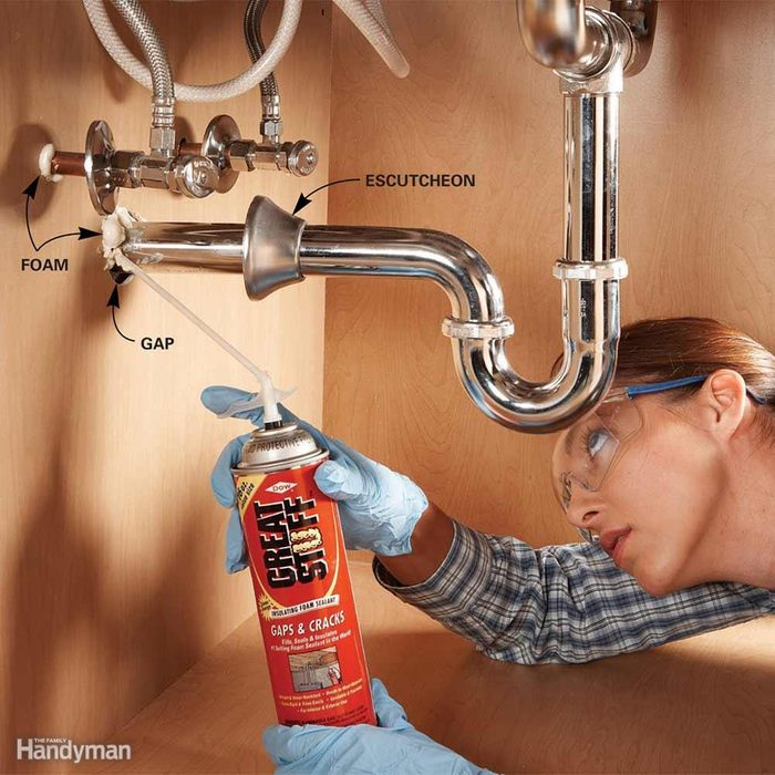 Fill Gaps Under Sinks