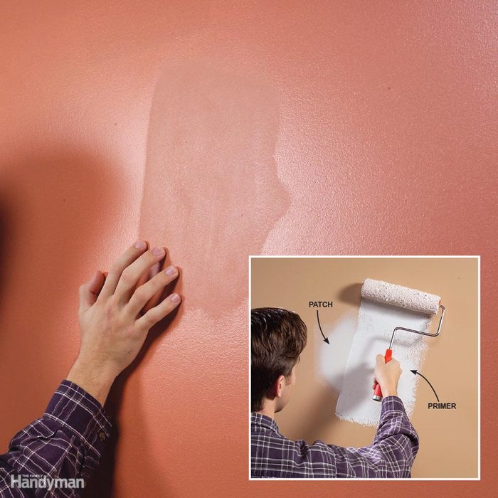 Prime and Texture Wall Patches to Avoid a Blotchy Finish