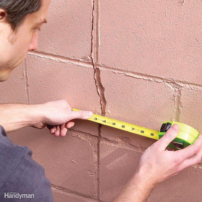Monitor foundation or wall cracks