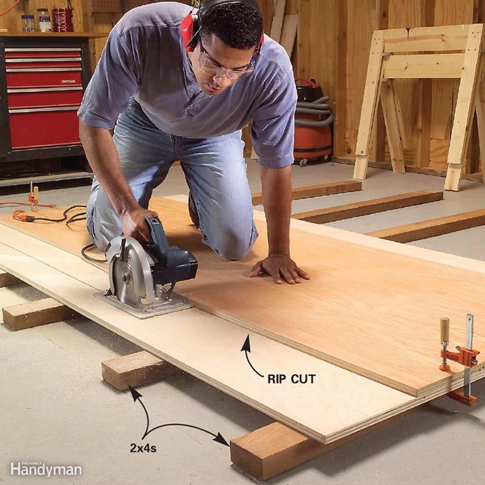 Cut Plywood on the Floor With Full Support