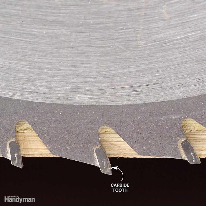 Set the Blade Depth to Just Clear the Plywood Thickness