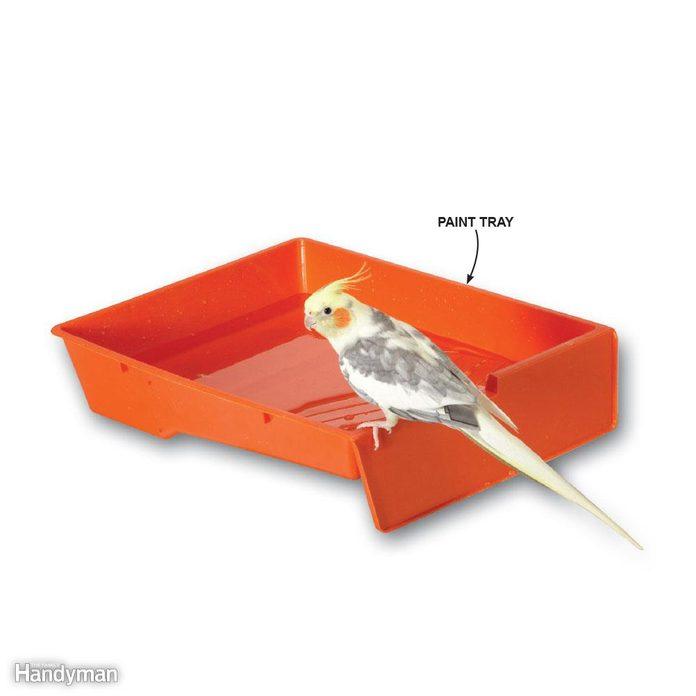 Paint Tray Birdbath