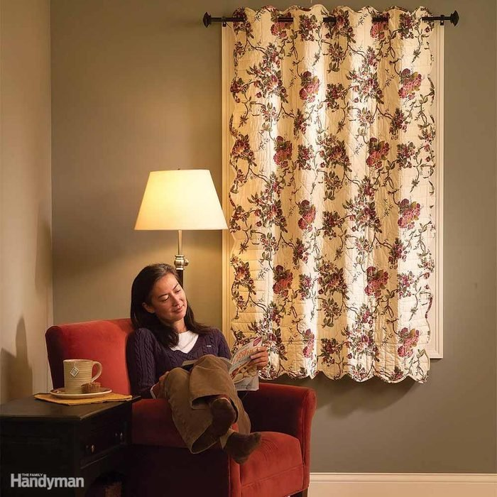 Install Quilted Curtains to Block Drafts