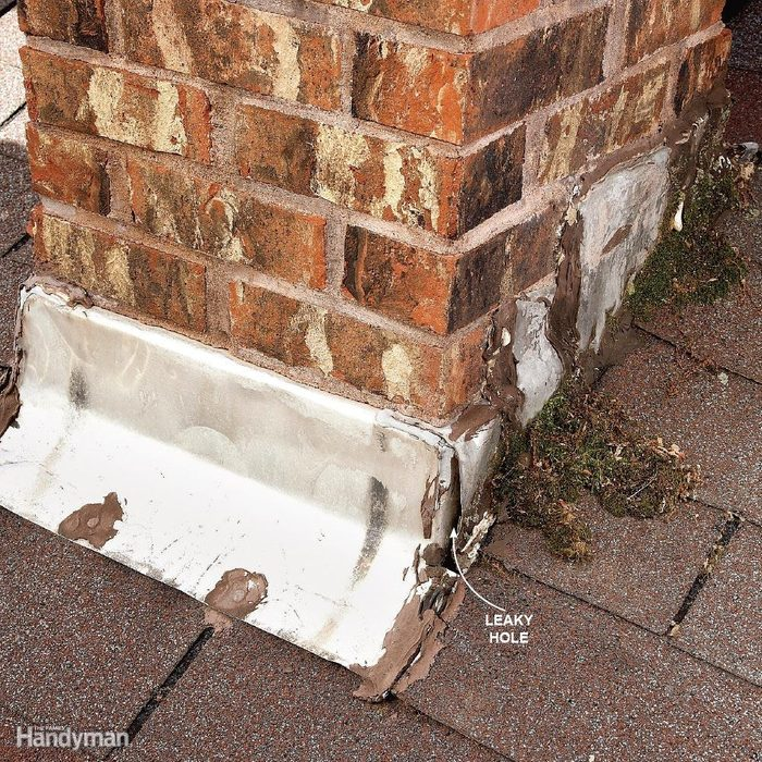 Leaks Around Brick Chimneys