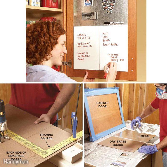Cabinet Door Message Board