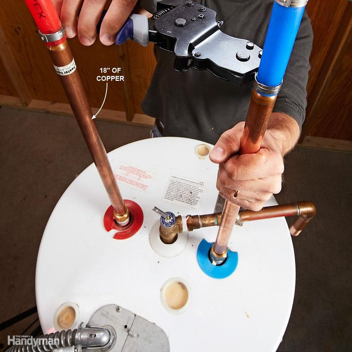Connecting PEX to water heater