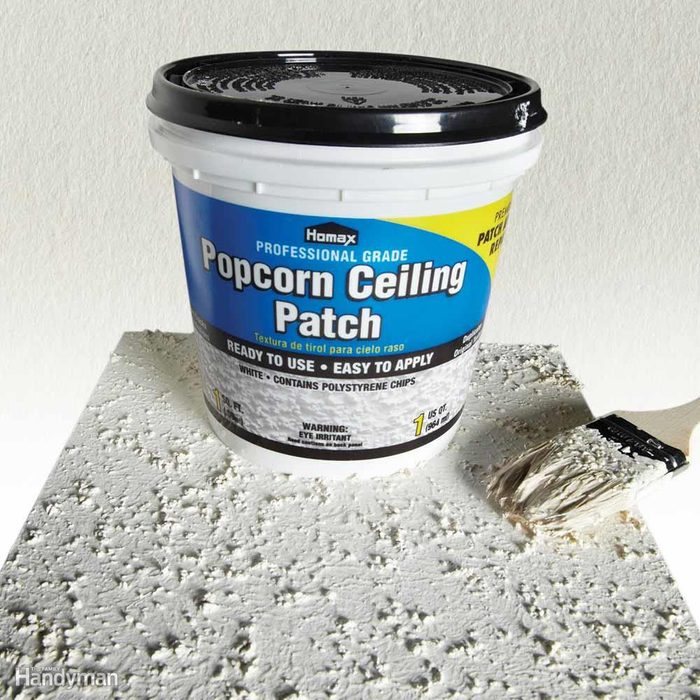 Texture in a Jar to Repair Cracks in Ceiling
