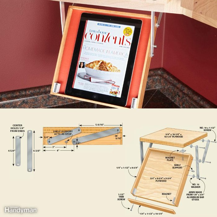 Kitchen Organization: Drop-Down Tablet Tray