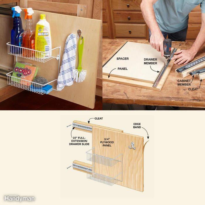 Kitchen Cabinet Storage Organizers: Rollout Storage Panel