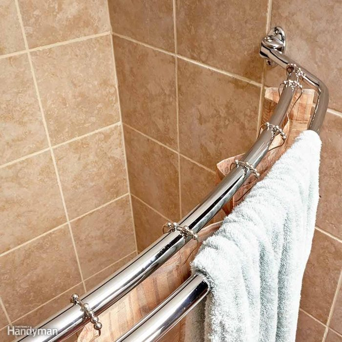 Install a Curved Shower Curtain Rod