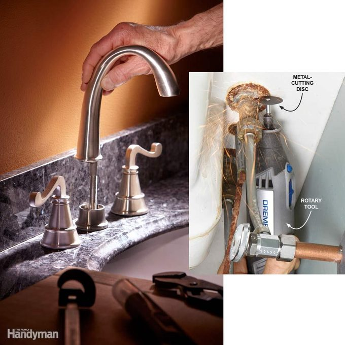 Cut Out the Old Faucet