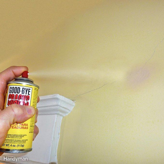 Cover Cracks with Repair Spray