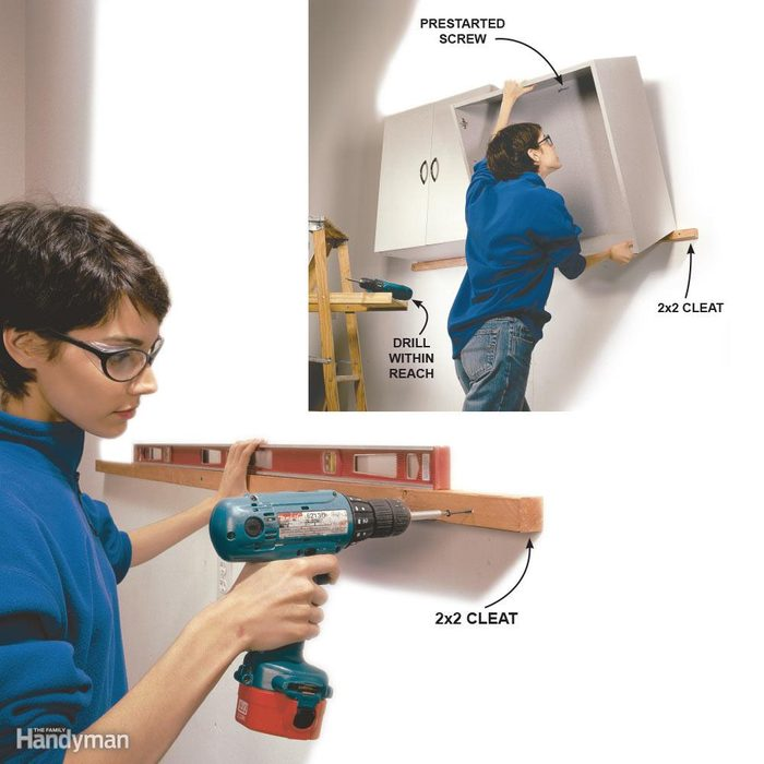 Use a Cleat to Hang a Cabinet