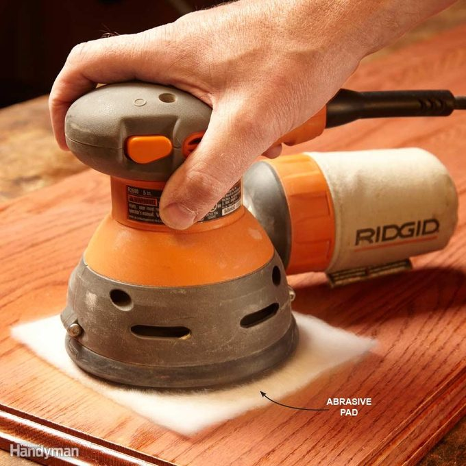 Buff a Finish with a Sander