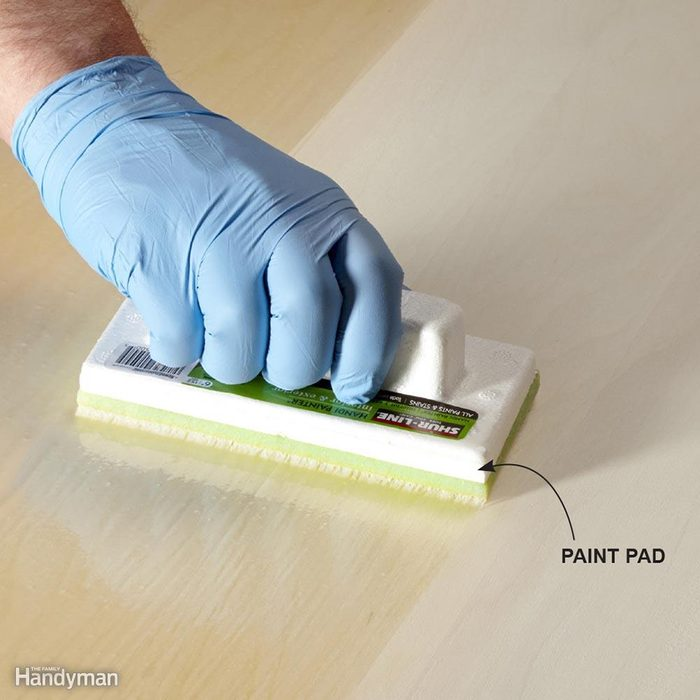 Apply Water-Based Poly With a Pad
