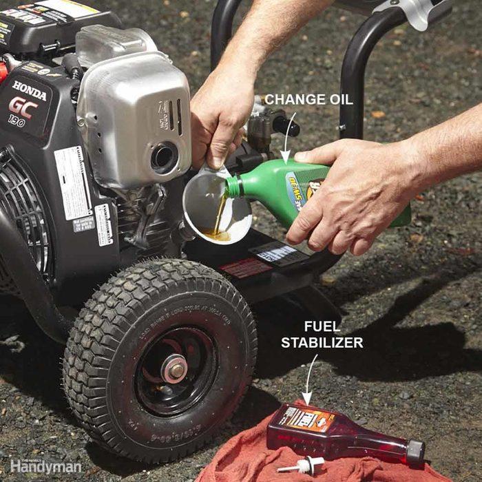 Prep a Pressure Washer Engine for Storage