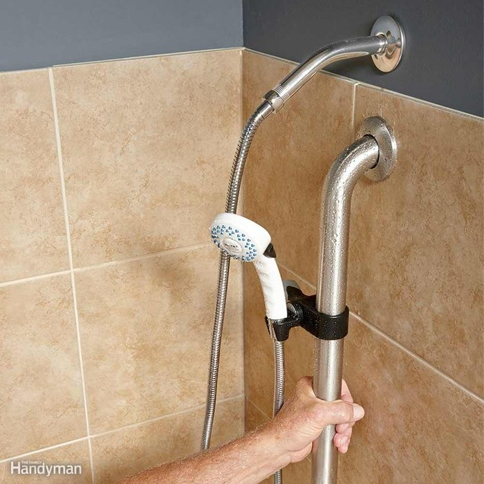 A Showerhead Grab Bar is a Big Help