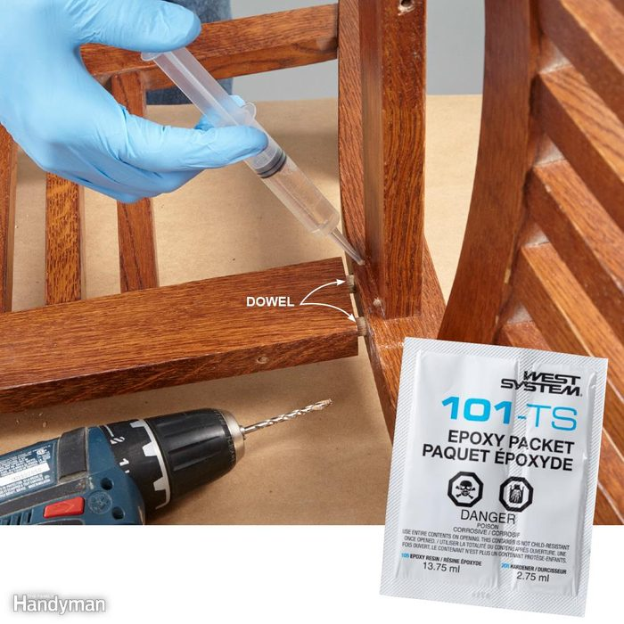 Inject Epoxy into Loose Joints