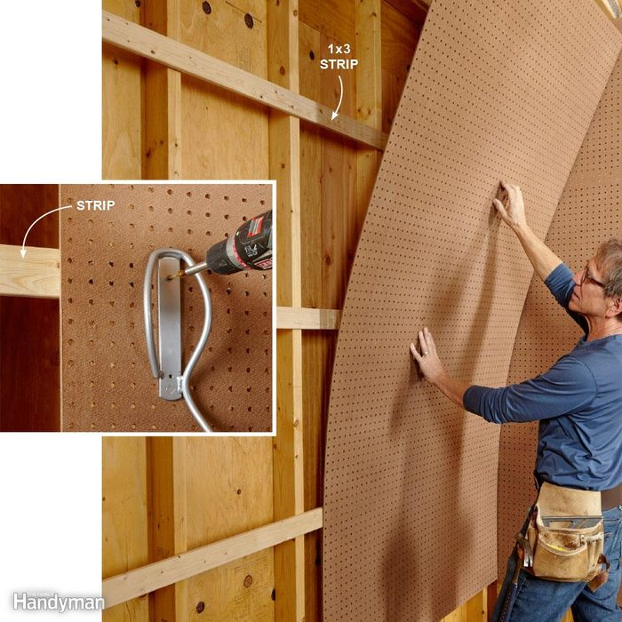 How to Mount Pegboard Walls