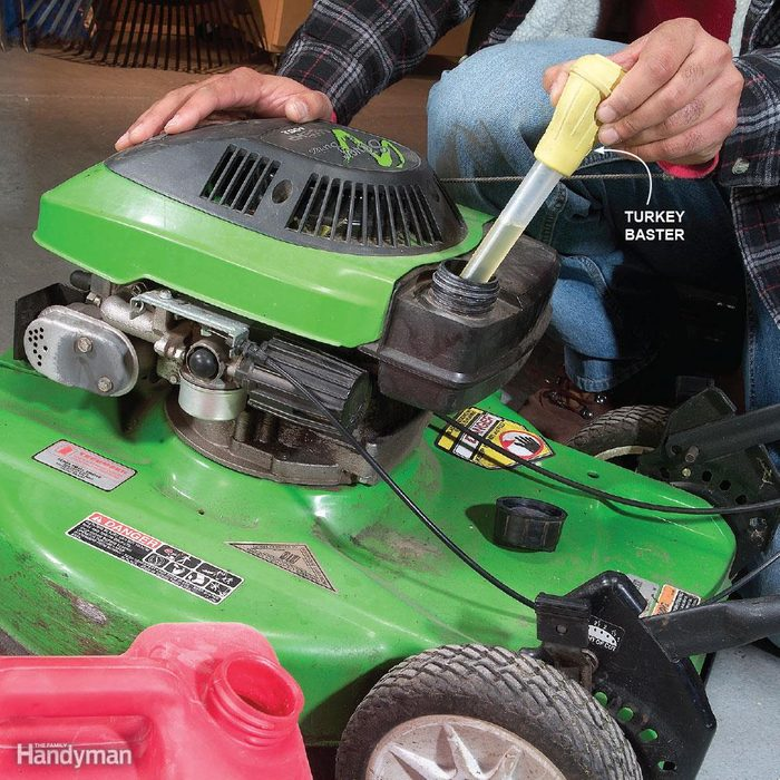 Swap Out the Gas in Small Engines or Replace the Carburetor in the Spring