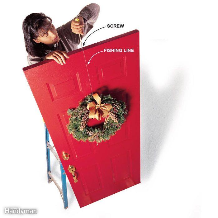 Hang a Wreath on a Door