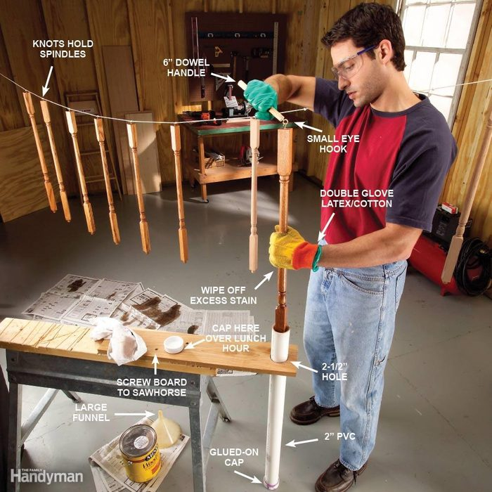Staining Spindles