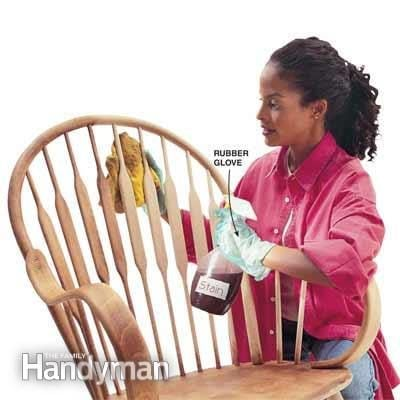 Wood Stain Application Tip