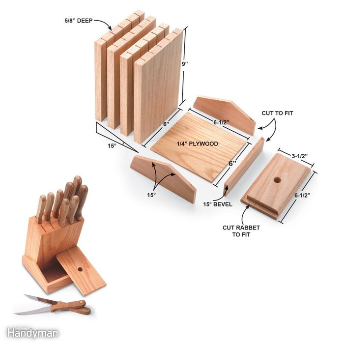 Easy-to-Build Knife Block