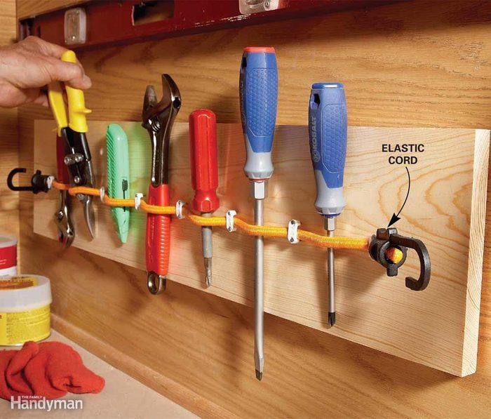 Elastic-Cord Tool Holder