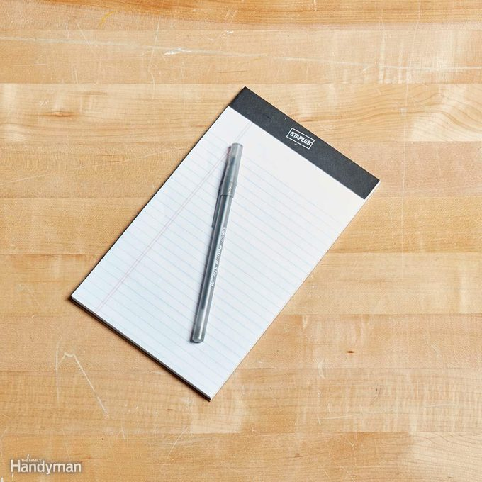 Notepad and Pen or Pencil