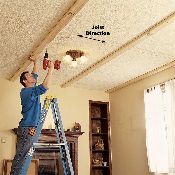 install 2x4s ceiling panels