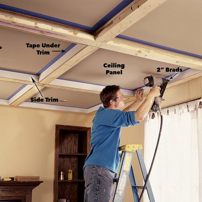 install ceiling panels side trim