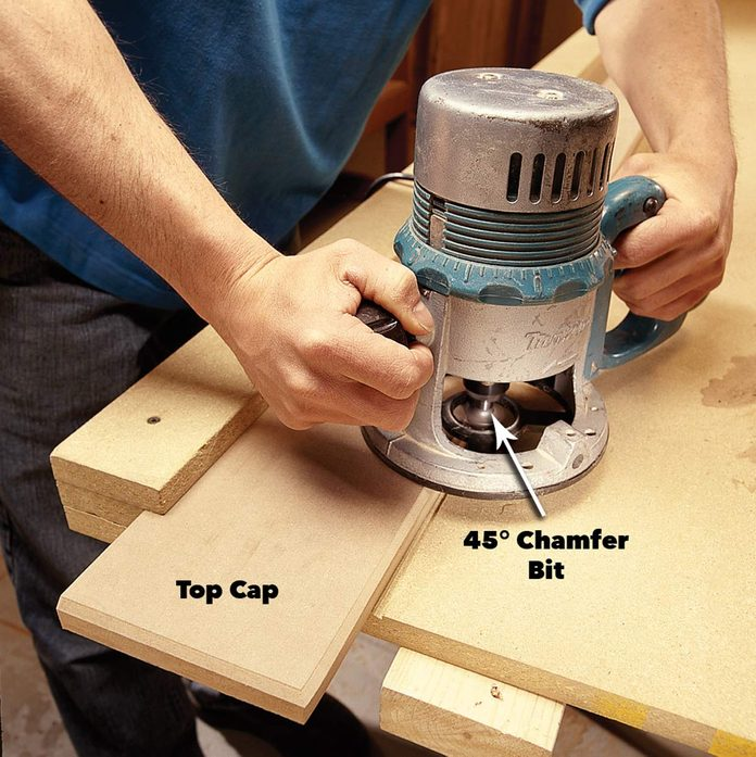 rout and install the caps