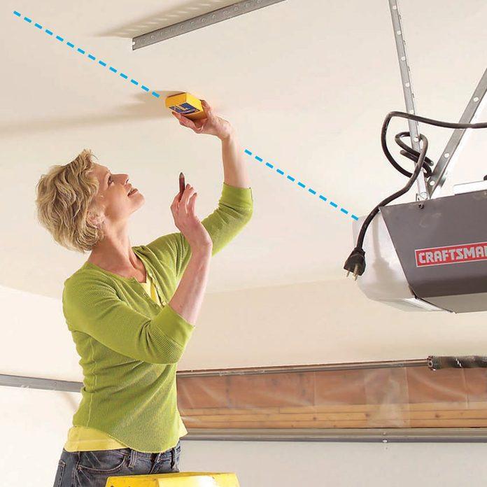 mark joists for installing shelves
