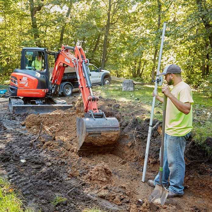 Digging a trench for a retaining wall   Construction Pro Tips
