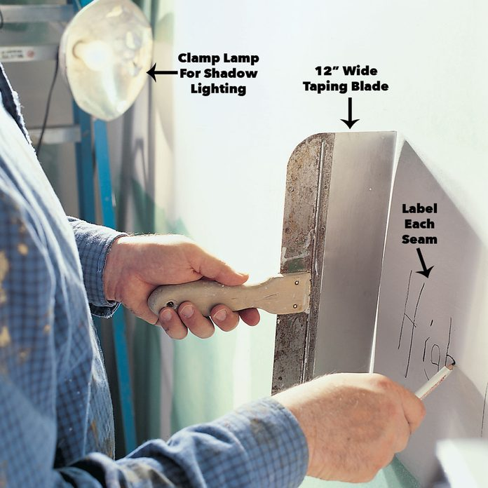 how to sand drywall map walls