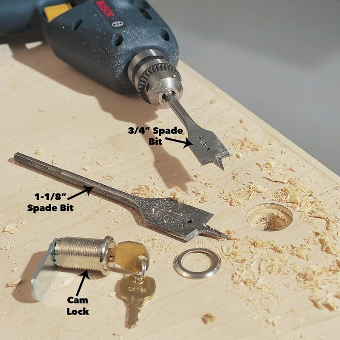 cam locks spade bit